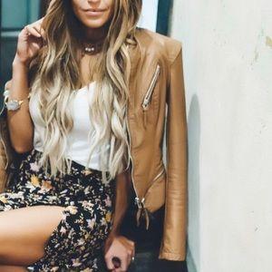 blanknyc // camel moto jacket